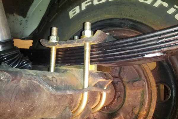 how to stop leaf spring defomation
