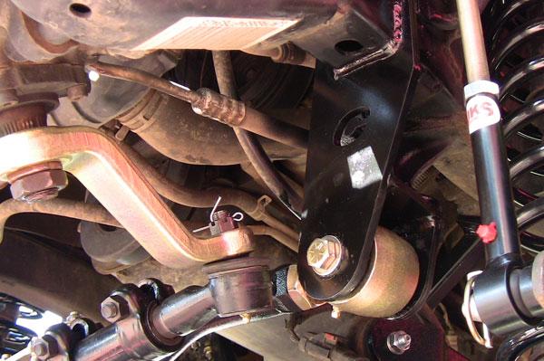 jeep wrangler adjustable front trackbar w  drop bracket