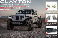 clayton off road, jeep parts, gladiator lift kit, jeep lift kits, JT lift kit, jeep suspension, gladiator suspension
